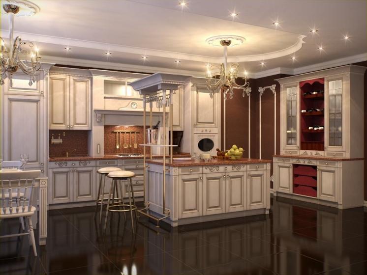 Купить Кухня Ярослав классического стиля в белом цвете  под заказ