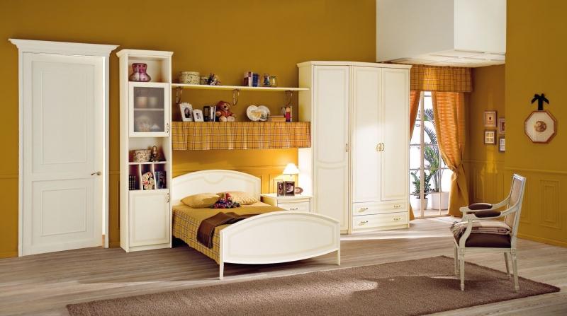 Детская Ваниль в грамотно подобранной цветовой гамме с кроватью и отдельными шкафчиками