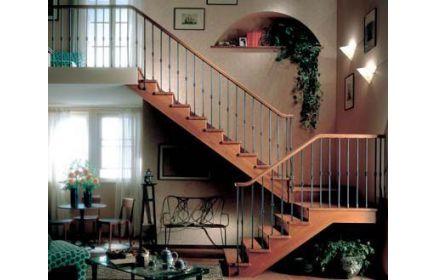Купить Лестница Адель современная под старину на две секции  под заказ