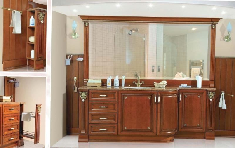 мебель для ванны альбиот современная из дерева по индивидуальному