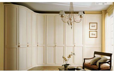 Купить Шкаф Феона угловой 10 дверей окрашено в белый дерево под заказ