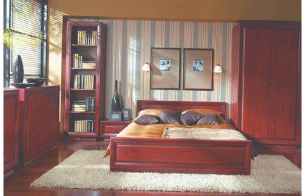 Купить Спальня Рада 1 шкаф с дверьми 1 книжный шкаф 1 тумба 2 комода 1 двухместная кровать красное дерево под заказ