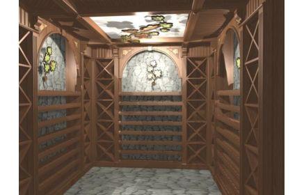 Купить Погреб Мускат со стеллажами для хранения винных запасов  под заказ