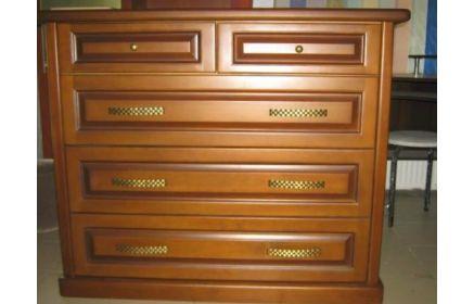 Купить Комод Макар коричневого цвета на три больших и два маленьких ящика  под заказ