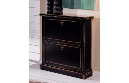 Купить Обувница Хронос черного цвета под старину на два ящика  под заказ