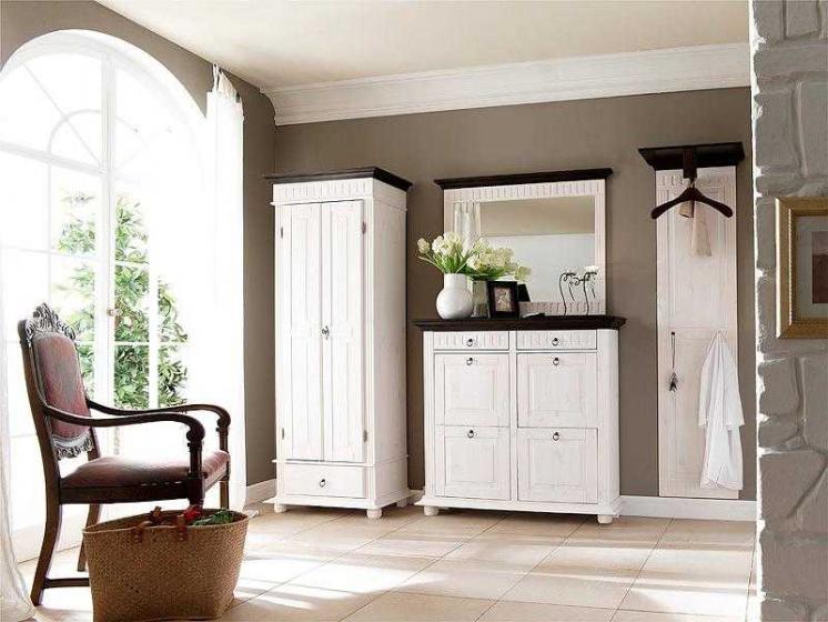 Купить Прихожая Акация из дерева в классическом стиле белого цвета из двух отдельных предметов  под заказ