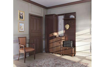 Купить Прихожая Когами прямого типа из дерева в коричневом цвете комбинированная со шкафом и тумбой  под заказ