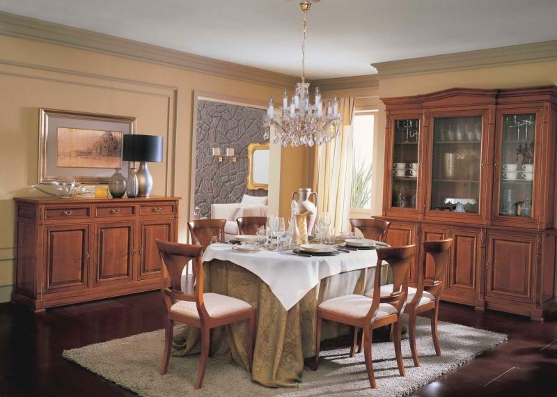 Гостиная Лор под старину с нескольких секций со стеклом