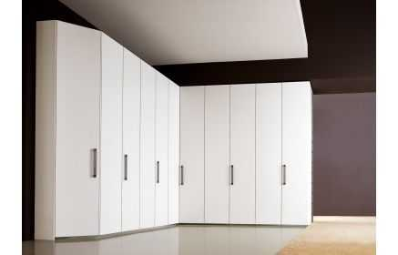 Купить Шкаф Ромашка угловой 11 дверей дерево окрашено в белый цвет под заказ