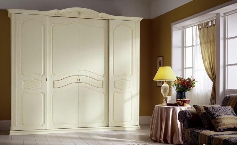 Купить Шкаф Август 4 двери с узором белый цвет под заказ