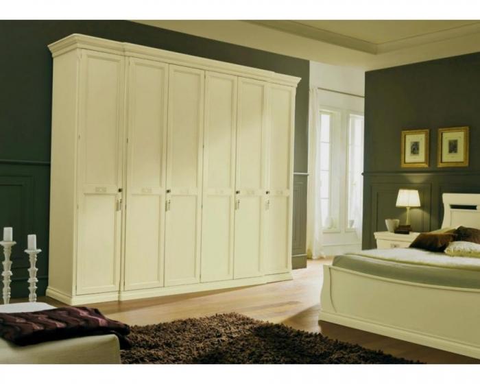Купить Шкаф Рондо 6 дверей дерево окрашено в белый цвет под заказ