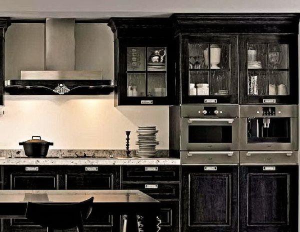 Черно-белая кухня неоготика