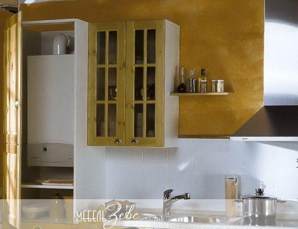 Кухня для хрущевки с колонкой