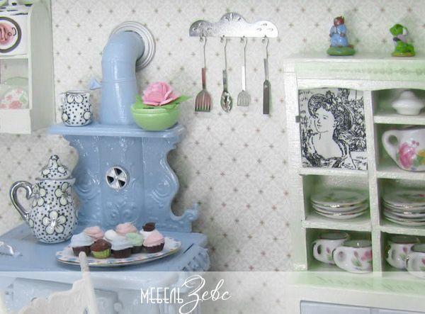 Дизайн кухни в стиле шебби-шик