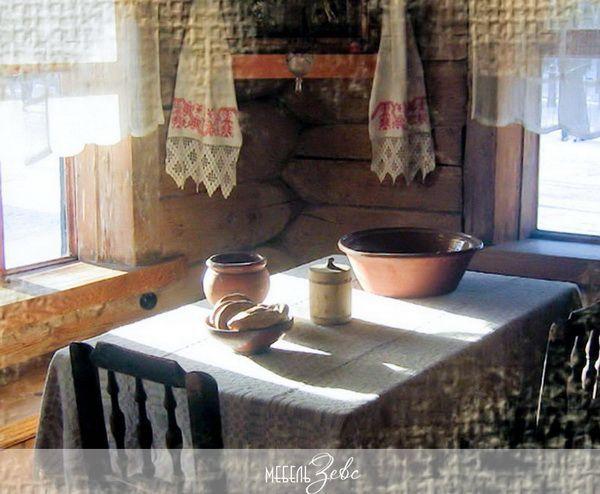 Кухня в деревенском русском стиле