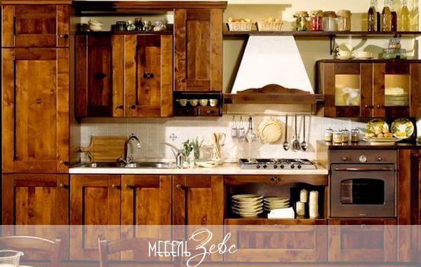 Кухня в деревенском стиле американского ранчо