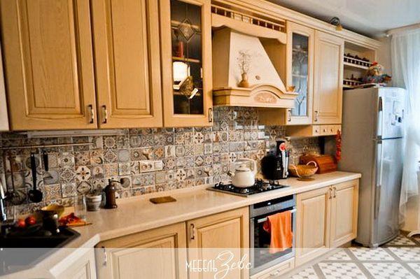 фартук из мозаики на кухню