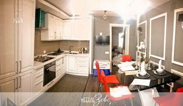 Расстановка мебели на кухне фото