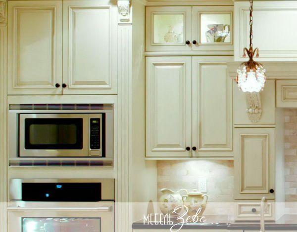 Разноуровневые кухонные шкафы