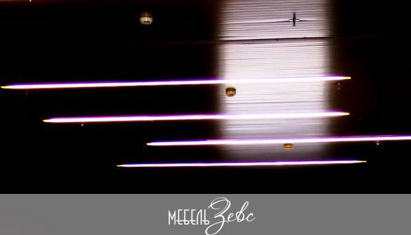 Установленная светодиодная лента